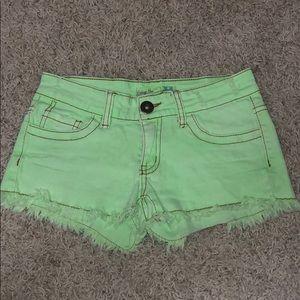 Green Vintage Havana Girls Jean Shorts Size 14